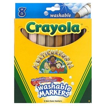 Crayola, Multicultural Washable Markers, 8 Count