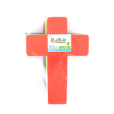 Playside Creations, Foam Crosses, Assorted Colors, 24 Count