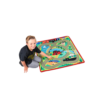 Melissa & Doug, Round the Town Road Rug & Car Set, Ages 3 to 8 Years Old, 5 Pieces