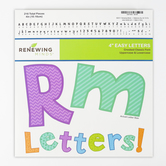Renewing Minds, Geo Pattern Bulletin Board Letters, Upper and Lowercase, 4 Inches, Assorted Colors, 216 Pieces
