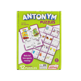 Junior Learning, Antonym Puzzles, 12 Puzzles, 48 Pieces, Ages 5 Years and Older