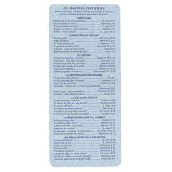 McBeth, Bible Helps Spanish Index Card, 8 x 4 inches