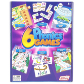 Junior Learning, 6 Phonics Games Set, Ages 5 Years and Older