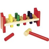 Melissa & Doug, Wooden Pound-A-Peg, Ages 2 to 4 Years Old, 10 Pieces