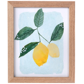 Lemon Wall Decor, Wood, Assorted Colors, 11 1/8 x 9 1/8 x 5/8 inches