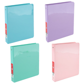 Bazic Products, Dual Pocket View Binder, Pastel Colors, 9 3/4 x 1 x 11 1/4 inches
