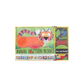 Melissa & Doug, Wooden Animal Pattern Blocks Set, Ages 3 to 6 Years Old, 52 Pieces