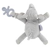 Stephen Joseph, Elephant Pacifier Plush, Polyester, Gray, 6 x 6 1/4 x 2 inches