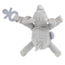 Stephen Joseph, Elephant Pacifier Plush, Polyester, Gray, 6 x 6 1/4 x 2 inches