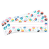 Colorfetti Collection, Nameplates, Donuts and Dots, Multi-Colored, 9.25 x 2.5 Inches, 36 Count