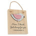 Imagine Design, Love You Mom Hanging Plaque, Wood, 3 1/2 x 4 3/4 inches