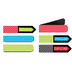 Isabella Collection, Magnetic Bookmarks, .75 x 2 Inches, Multi-Colored, Pack of 6