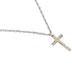 Soul Anchor, Cross Pendant Necklace, Zinc Alloy, Silver, 24 inches
