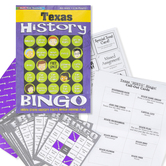 Gallopade, Texas State History Bingo Game, Carole Marsh, 6.5 x 10 Inches, Paperback, 36 Pages
