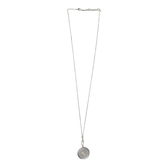 Set Free, Locket with Pearl Necklace, Zinc Alloy, Brushed Silver, 30 inches
