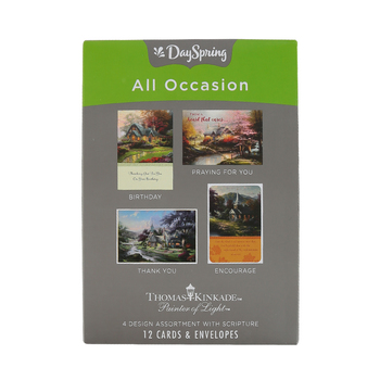 DaySpring, Thomas Kinkade Boxed All Occasion Cards, 12 Cards with Envelopes