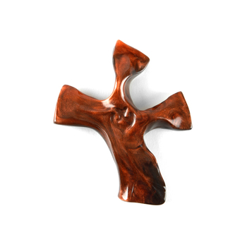 Hand Held Cross, Copper Clinging Cross, by Not So Plain Jane, Inc., 4 x 3 inches