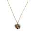 By His Grace, Psalm 46:5 Double Medallion Necklace, Iron and Zinc Alloy, Gold, 20 Inch Chain