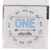 Brother Sister Design Studio, Monthly Milestone Stickers, Blue & White, 4 inches, 12 Stickers