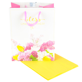 DaySpring, Bless One Another Gift Bag, Magenta, Medium, 7 3/4 x 9 3/4 x 4 3/4 Inches