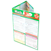 BarCharts, Math 3rd Grade Laminated Quick Study Guide, 8.5 x 11 Inches, 6 Pages, Grade 3