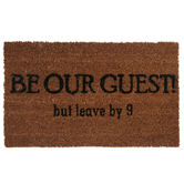 Be Our Guest but leave by 9 Doormat, Coir, Brown and Black, 18 x 30 Inches