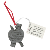Abbey and CA Gift, Wonderful Teacher Car Charm, 2 x 2 inches