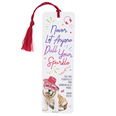 Christian Brands, Psalm 139:14 Never Let Anyone Dull Your Sparkle Tassel Bookmark, 2 x 6 Inches