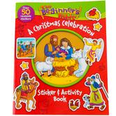 A Christmas Celebration Sticker & Activity Book, The Beginner's Bible, by Zonderkidz