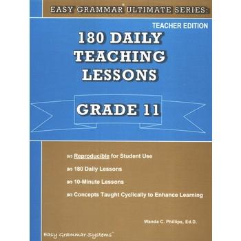 Easy Grammar Ultimate Series 180 Daily Teaching Lessons Grade 11 Teacher