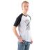 NOTW, 2 Timothy 1:7 Spirit Of Power, Men's 3/4 Sleeve Raglan T-shirt, White and Black, Small