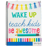 Schoolgirl Style, Hello Sunshine Teacher Planner Book, 12-Month, Customizable, 8.38 x 10.9 Inch