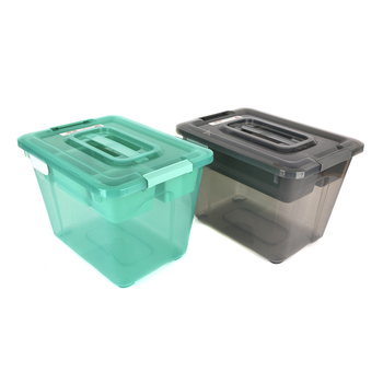 Ezy Storage, Sort It Storage Tub, Gray or Turquoise, 15 x 11 x 10.50 Inches, 3 Pieces