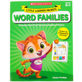 Scholastic, Little Learner Packets: Word Families Activity Book, Reproducible, 96 Pages, Grades PreK-K