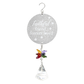 Carson Home Accents, Faithful Friend Forever Loved Prism Drop Suncatcher, 7 1/2 inches