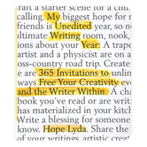 Harvest House, My Unedited Writing Year, by Hope Lyda, Paperback, 368 Pages