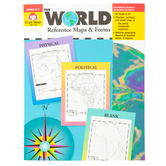 Evan-Moor, The World Reference Maps and Forms Teacher Resource, Paperback, 112 Pages, Grades 3-6