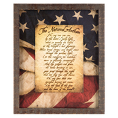 National Anthem Wall Decor, MDF, Patriotic, 22 1/2 x 18 5/8 x 1 inches