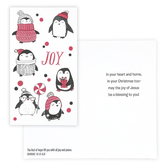 DaySpring, Little Inspirations, Romans 15:13 Joy Penguins Boxed Christmas Cards, 3 3/8 x 6 inches, 16 cards