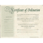 Minister Ordination, Billfold Size Certificate
