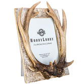Antler Photo Frame, for 5 x 7 inch photo, Resin