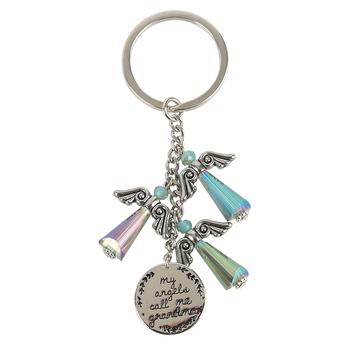 Alexa's Angels, My Angels Call Me Grandma Key Chain, Silver, 3 inches