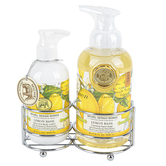 Michel Design Works, Lemon Basil Handcare Caddy, Soap 17.8 ounces, Lotion 8 ounces
