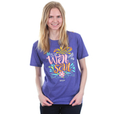 Kerusso, It Is Well With My Soul, Women's Short Sleeve T-Shirt, Purple Heather, S-3XL