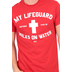 Kerusso, My Lifeguard Walks on Water, Men's T-Shirt, Red