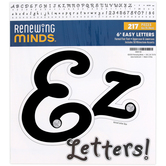 Renewing Minds, Formal Flair Bulletin Board Letters, Black with Rhinestone Accents, 6 Inch, 217 Pieces