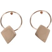 Modern Grace, Psalm 100:1 Hoop with Diamond Shape Dangle Earrings, Zinc Alloy, Rose Gold