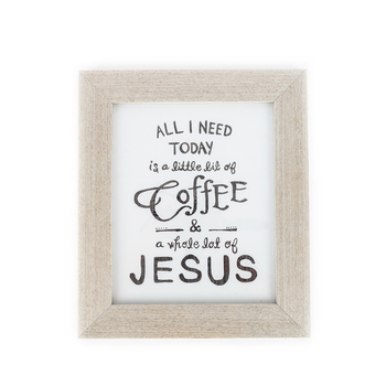 All I Need Today Wall Plaque, 12 3/4 x 10 3/4 inches