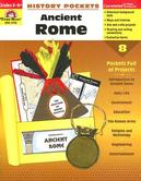 Evan-Moor, History Pockets Ancient Rome Teacher Reproducible, Paperback, 96 Pages, Grades 4-6