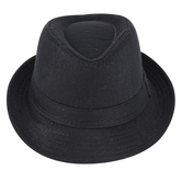 Creations of Grace, Child's Fedora Hat, Black, 4 x 9 1/2 inches